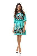 Платье лён с вышивкой 06/3038