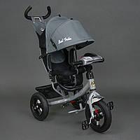 *Велосипед 3-х колёсный Best Trike Серый арт. 6588 В (надувные колеса, фара, ключ зажигания)