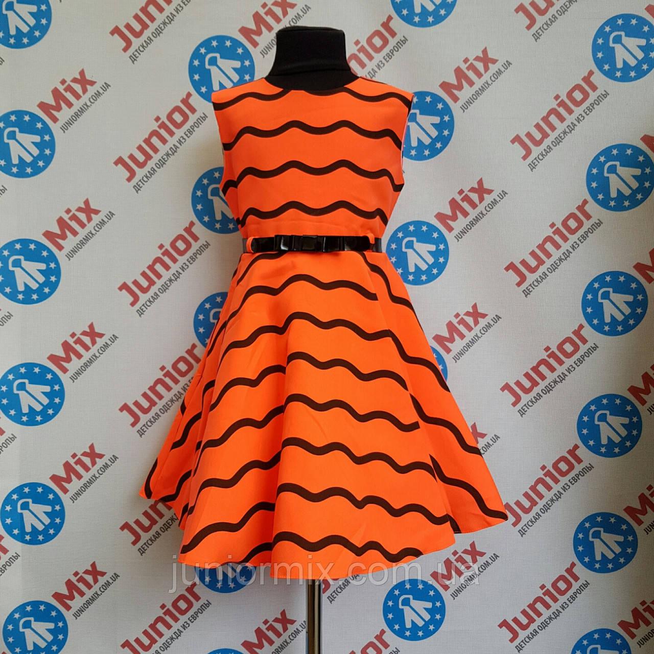 Платье нарядное на девочку в волны SNEKE ПОЛЬША