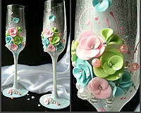 Свадебные бокалы для шампанского