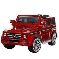 Электромобиль детский джип с мягкими колесами Mercedes G 55 EBLRS-3 вишневый, автопокраска и кожаное сиденье