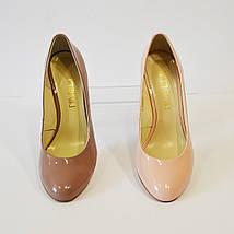 Туфли женсие какао лаковые Nivelle 1527, фото 3