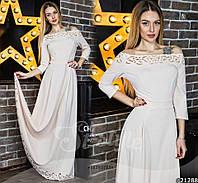 Красивое женское платье в пол с перфорацией,ткань креп-дайвинг,цвет белый,бутылка,бордо