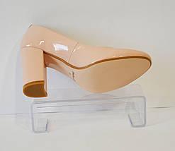 Туфли женсие пудра лаковые Nivelle 1527, фото 2