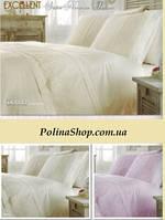 """Комплект постельного белья ALTINBASAK Сатин с гипюром """"Donna""""  Евро"""