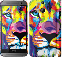 "Чехол на HTC One M8 Разноцветный лев ""2713c-30"""