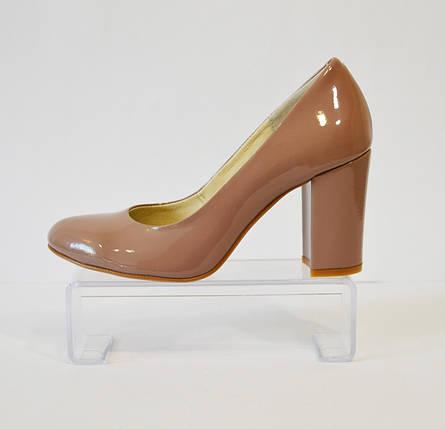 Туфли женсие какао лаковые Nivelle 1527, фото 2