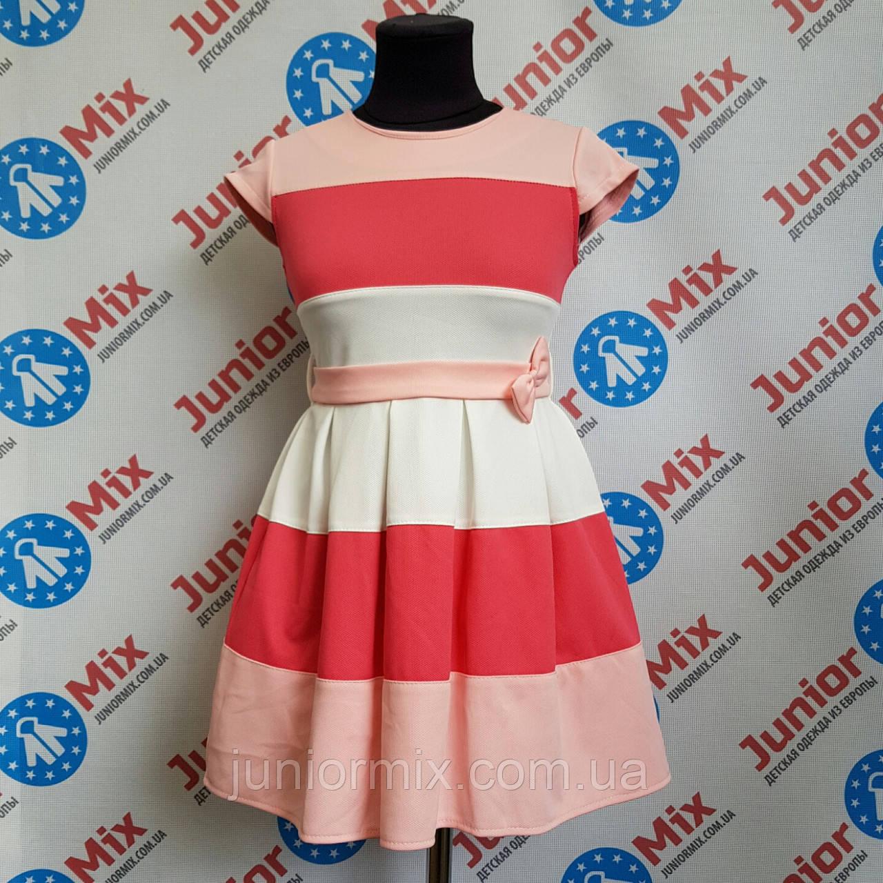 Платье на девочку под пояс с коротким рукавом MARINEX