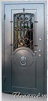"""Двери входные со стеклопакетом и ковкой """"ИСПАНЬЕЛА"""" 980*2050 ПРАВАЯ"""