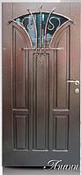 """Двери входные со стеклопакетом и ковкой  """"ЛИАНИ"""""""