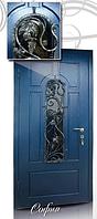 """Двери входные со стеклопакетом и ковкой """"СОФИЯ"""""""