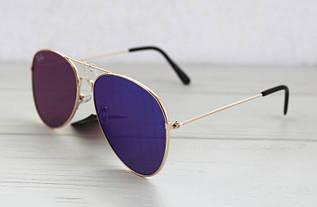 Цветные солнцезащитные зеркальные очки-авиаторы унисекс с прямым стеклом