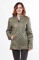 Женская стильная весенняя куртка Саша 2-Р хаки 44-56 размеры