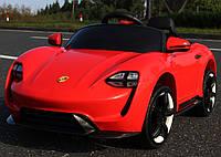 Детский электромобиль Порше M 2727 Porsche, Кожа, Резина, красный, дитячий електромобіль