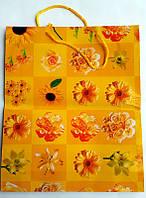 Пакет подарочный ГИГАНТ ВЕРТИКАЛЬНЫЙ 32х39х9см Жёлтый