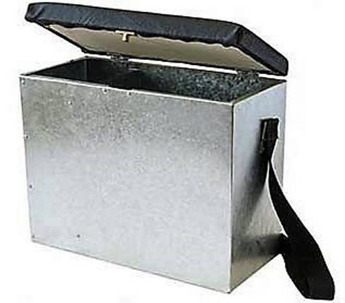 Ящик зимний оцинкованный, 40*30*20 см, сидение, наплечный ремень для транспортировки, фото 2