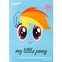 Картон кольоровий двосторонній Kite Little Pony А4 LP17-255, фото 1