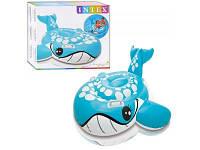Детский надувной плотик Intex 57527 Синий кит, 160-152 см.