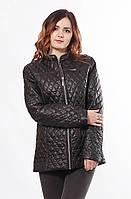Женская стильная весенняя черная куртка Саша 2-Р 44-68 размеры