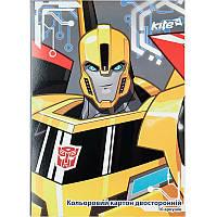 Картон цветной двусторонний Kite Transformers А4 TF17-255, фото 1
