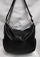 Стильная женская сумка из натуральной кожи. Черный