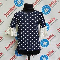 Блузка в горохи на девочку  ИТАЛИЯ, фото 1
