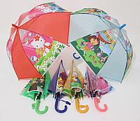 Детский зонт  4-8 лет Винни-Пух, Дора, Человек-паук, Хелло Китти, Бен тен, Принцессы
