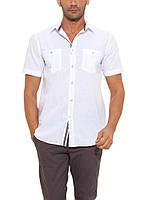 Мужская рубашка LC Waikiki с коротким рукавом белого цвета  2XL