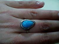 Кольцо с камнем агат в серебре., фото 1