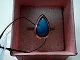 Кольцо с камнем агат в серебре 17,5-18 размер, фото 2