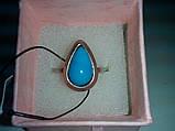 Кольцо с камнем агат в серебре 17,5-18 размер, фото 3
