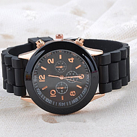 Женские часы Женева (Geneva) Black