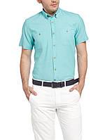 Мужская рубашка LC Waikiki с коротким рукавом ярко голубого цвета