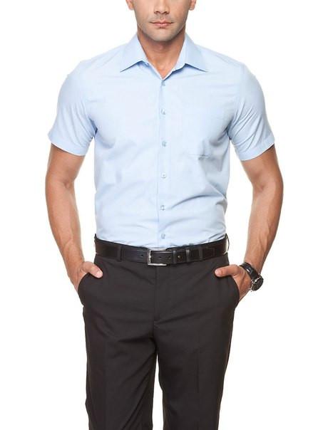 cbe6523c7 Мужская рубашка LC Waikiki с коротким рукавом светло голубого цвета