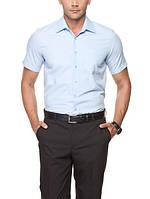 Мужская рубашка LC Waikiki с коротким рукавом светло голубого цвета
