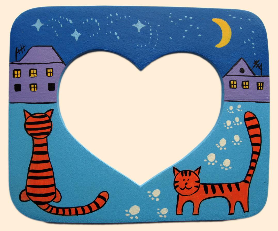 Детская фоторамка «Влюбленные коты», Funny Animals