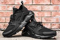 Мужские кроссовки Nike huarache black, кроссовки найк черные