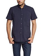 Мужская рубашка LC Waikiki с коротким рукавом темно-синего цвета