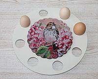 """Деревянная подставка для паски и яиц """"Птичка"""". Пасхальные сувениры"""