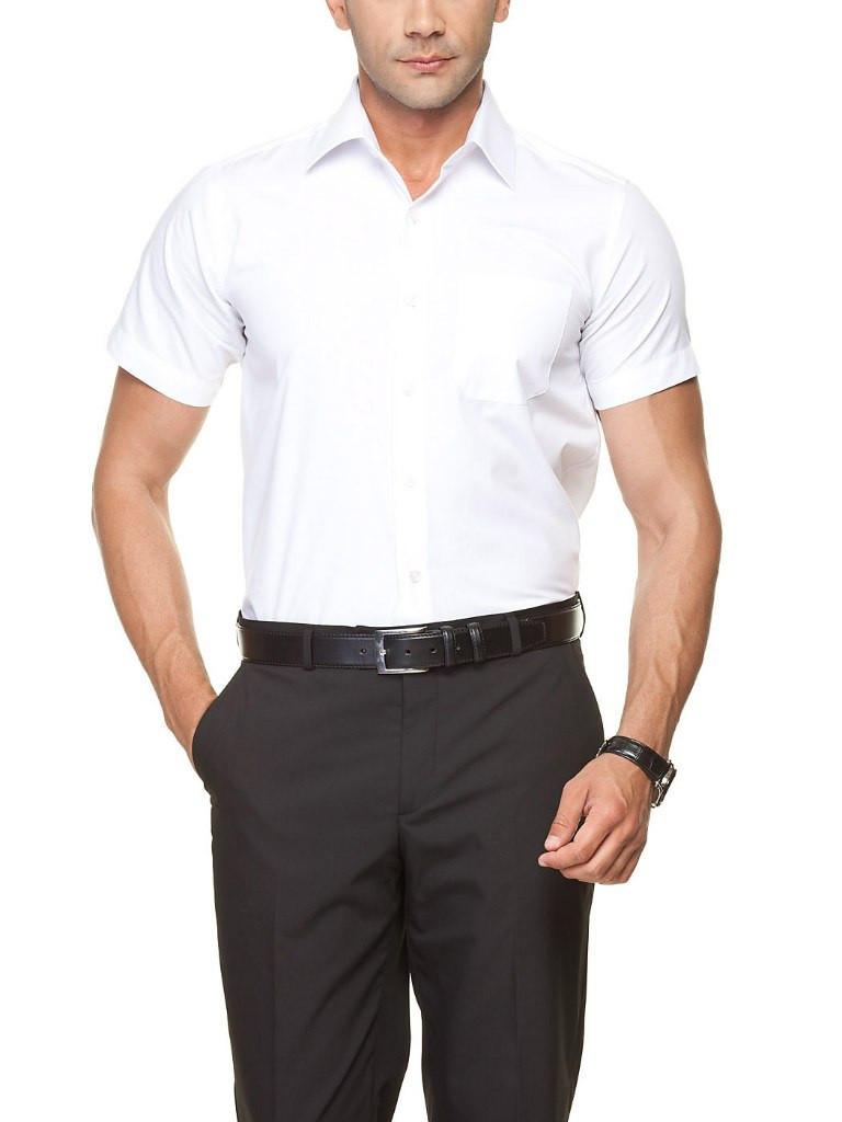 Мужская рубашка LC Waikiki с коротким рукавом белого цвета