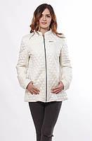 Женская стильная весенняя куртка Саша 2-Р ваниль 44-56 размеры