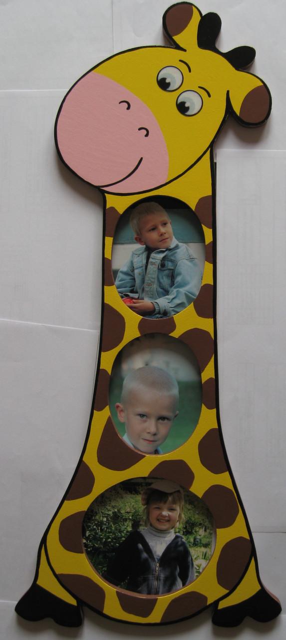 Детская фоторамка «Жираф высокий», Funny Animals