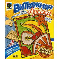 Набор для творчества Фантазер Витражная фреска Фрукты, 408001