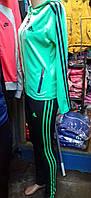 Женский мятний спортивный костюм с капюшоном