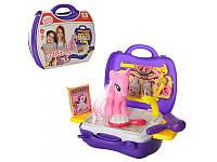 Набор парикмахера с лошадкой My little pony, 14см, в чемодане, MJX7010