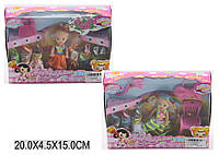 Кукла маленькая, 2 вида, с платьями, расческой, сумочкой, 603C1/С2