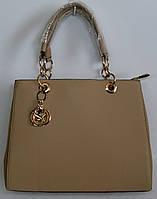 Женская сумка JING PING бежевый цвет