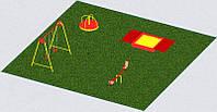 Игровая площадка из 4 элементов для детей на улицу