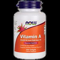 Витамин А / Vitamin A, 25000 МЕ, 250 гелевых капсул