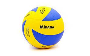 Мяч волейбольный Клееный PU MIK  MVA-300 (PU, №5, 5 сл., клееный)Z